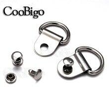 """2 набора 3/""""(20 мм) никелированные d-кольца картина подвески для картинных рам жгут сапоги Пояс Кожа Ремесло Швейные аксессуары"""