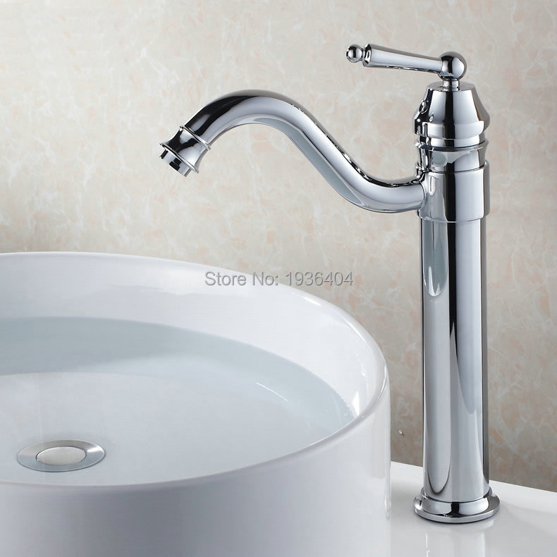 High Quality Euro Style Chrome Brass Faucets Bathroom Sink Basin Mixer Tap Single Handle