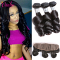 Peruvian Curly Hair Loose Wave With Lace Frontal Closure 7a Cheap Weave Peruvian Virgin Hair With Closure 3 Bundles With Frontal