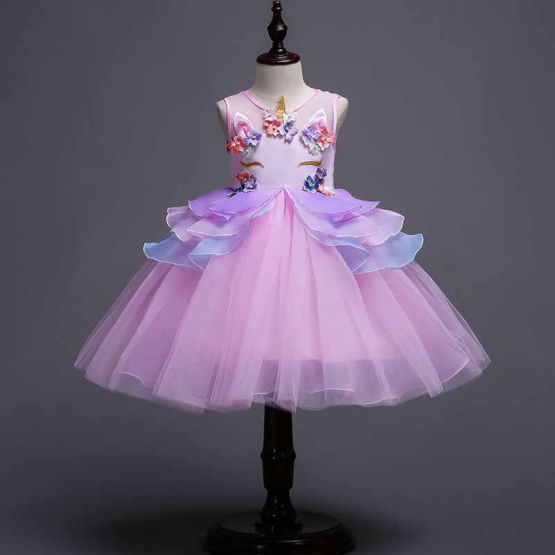 Filles robe de princesse fête licorne enfants robes pour fille été sukienki jurken vestido infantil elbise robe vêtements enfant robes