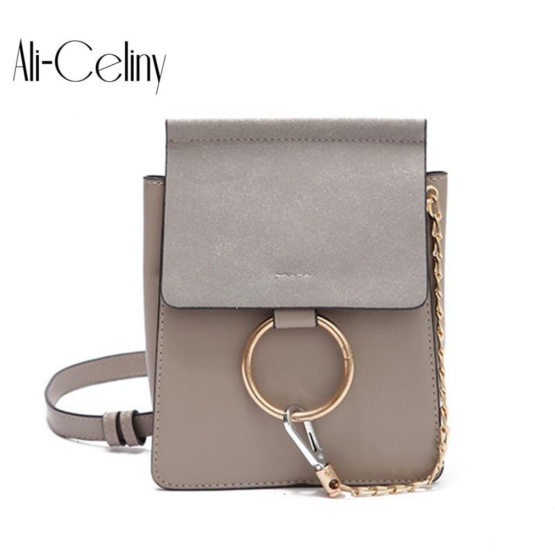 New Style famous brand Retro Minimalist Crossbody Bag mini Women Shoulder Bag Women Messenger Bag diamond Chain Puzzle Ring