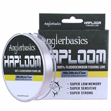 Anglerbasics 100% Fluorocarbon Fishing Line Cord 182M/200Yds Sink Fast Monofilament Carp Leader Fishing Lines Fly/Lure Fishing
