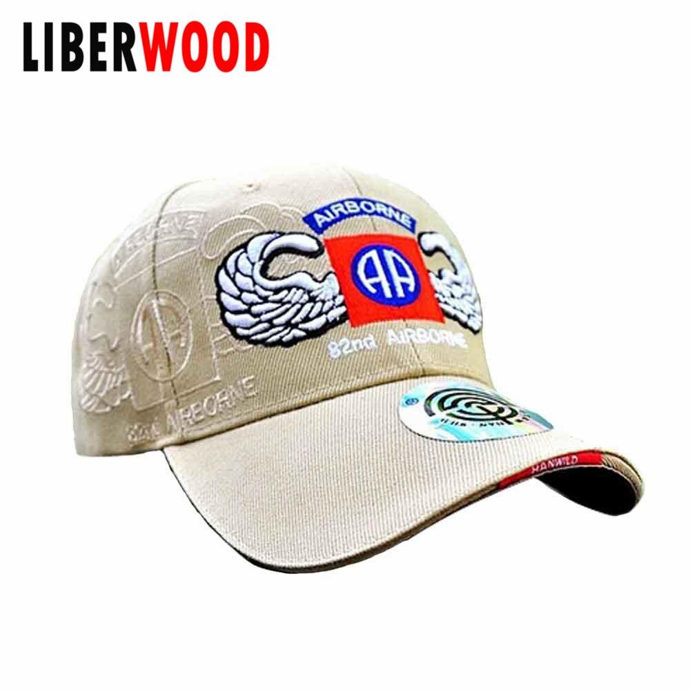 US $6 85  U S  Army 82nd Airborne All The Way VIETNAM VETERAN HAT US AIR  FORCE 82 US WW2 82N CAP AIRBORNE LOGO Shadow BASEBALL CAP HAT-in Military