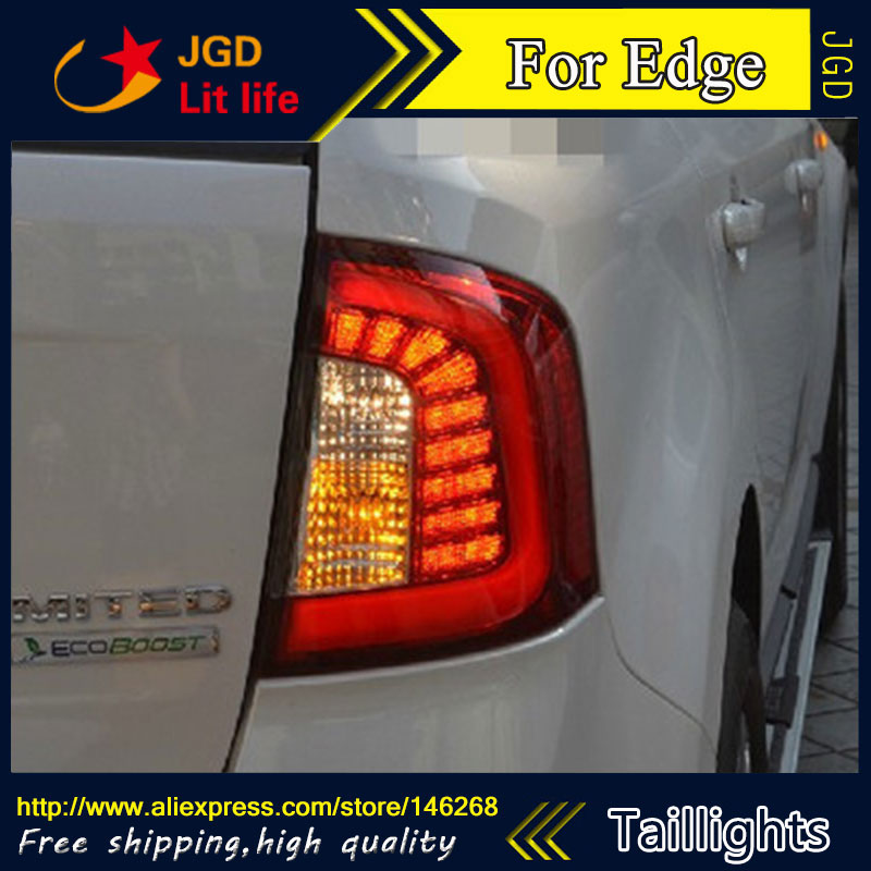 Car Styling tail lights for Ford Edge 2009-2013 LED Tail Lamp rear trunk lamp cover drl+signal+brake+reverse diy rear trunk security shade hatch black cargo cover shade for ford edge 2011 2012 2013 only