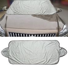 Hot  1Pc Car Snow Ice Protector Visor Sun Shade Fornt Rear Windshield Cover Block Shields 18 Sept 5(China)