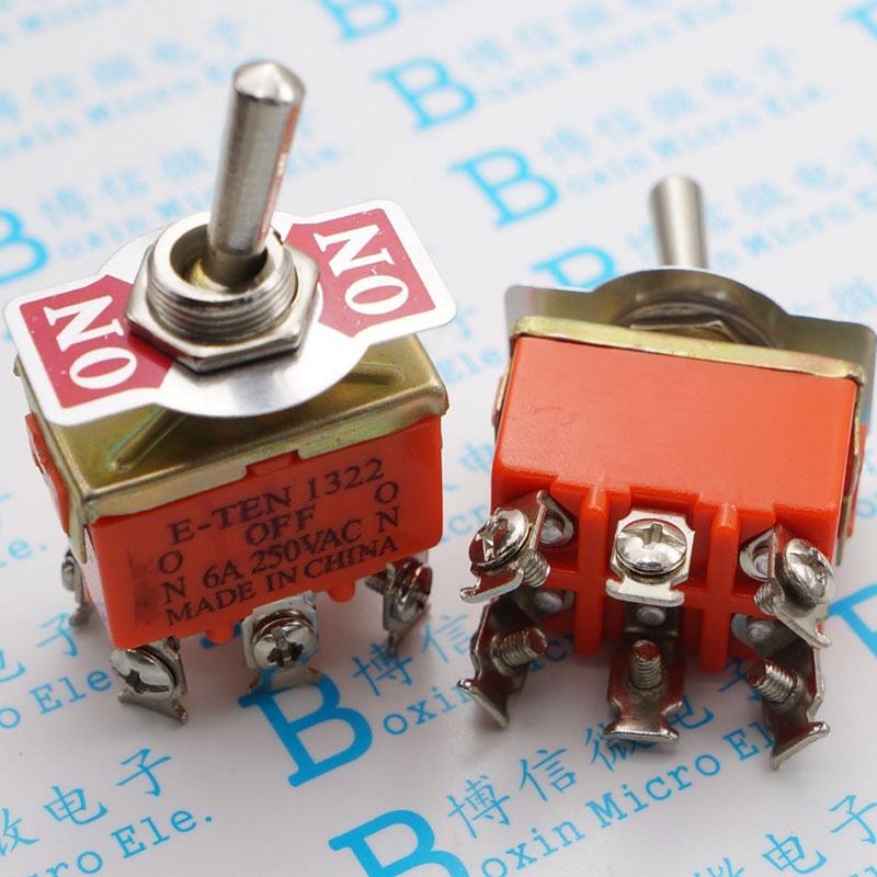 E - TEN1322 toggle switch 6 foot 3 switch Double pole double throw toggle switch power supply shook his head toggle switch the switch s 422t