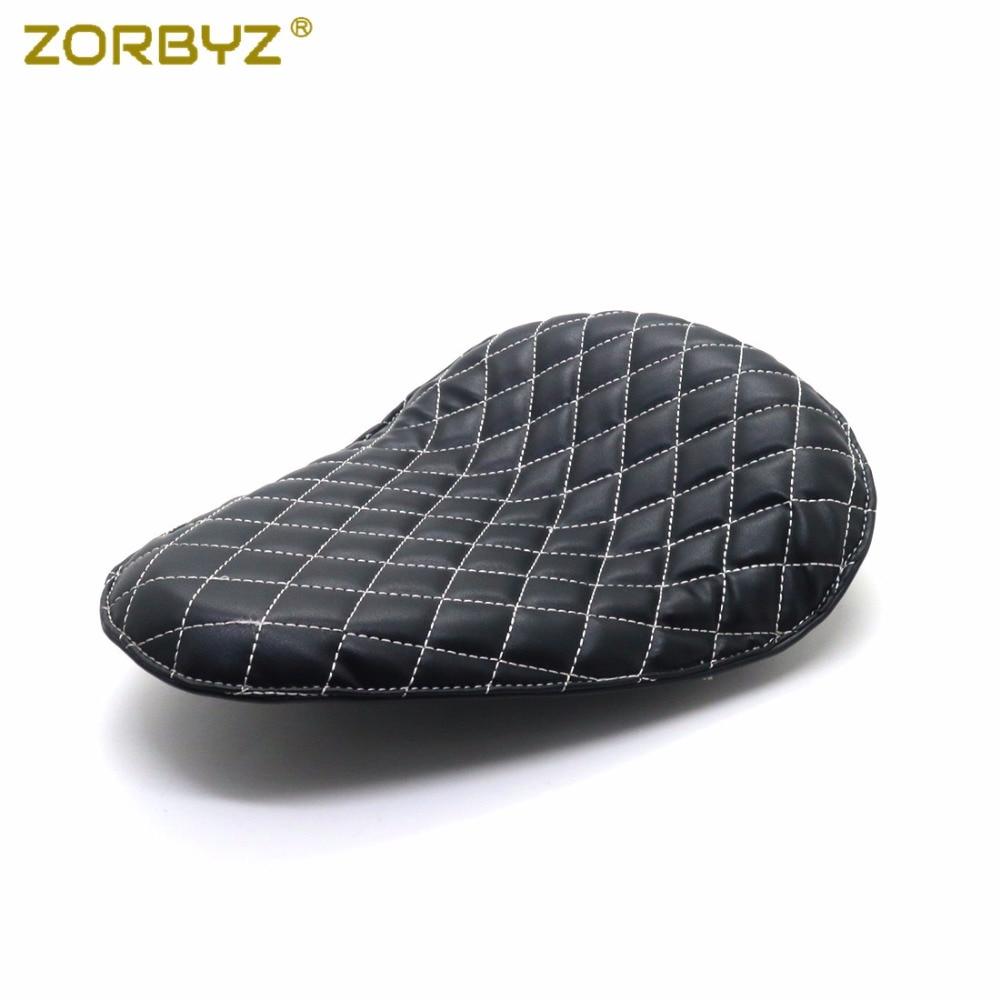 ZORBYZ Black Diamond Synthetic Leather Style Solo Seat For Harley Honda Suzuki Bobber Chopper Custom