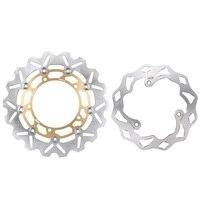Мотоцикл Arashi Передние Задние Тормоза Дисковые роторы комплект для Yamaha MT 03 ABS 320 2016 и YZF R3 R25 2015 2016 золото
