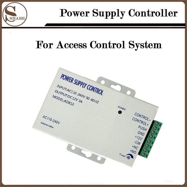 DC 12V 3A/AC 110~240V Power Supply Controller Door Switch For Access Contorl System