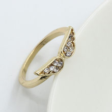 Angel Wings Rings For Women Gold Silver Plated Crystal Ring Zircon Rhinestone Finger Jewelry Accessories Fashion Wedding Bands(China)