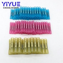 100pcs Waterproof Solder Seal Heat Shrink Butt 3 Sizes Insulated Electrical Wire Cable Crimp Terminals Connectors