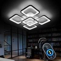 Дистанционный светодио дный современный светодиодный потолочный светильник для спальни столовая акриловый абажур затемнения для 15 25 м