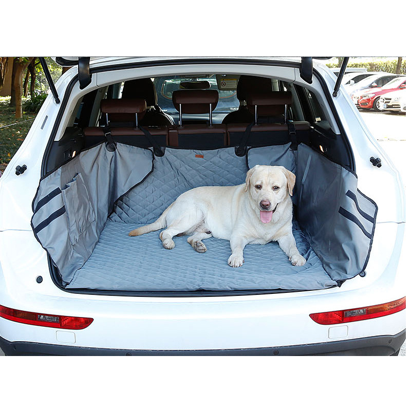 New Design! Dual-use Waterproof 900D Oxford Dog Auto Car Trunk Cover Back Seat Cover with Bag Pet Hammock Mats With Storage Bag seat cover waterproof oxford dog auto car blanket trunk mat back seat cover cushion pet vehicle nonslip folding seat cover