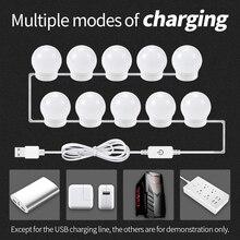 2018 New USB Plug Mirror Light 12V Makeup Lamp Vanity LED Bulb Hollywood Tool Wall Stepless Dimmable