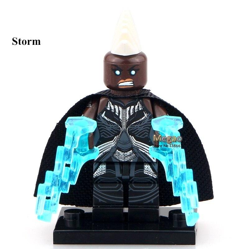 50pcslot Storm PG085  Super Hero X-men Mini Blocks Angle Xmen Building Blocks Education Learning Toys