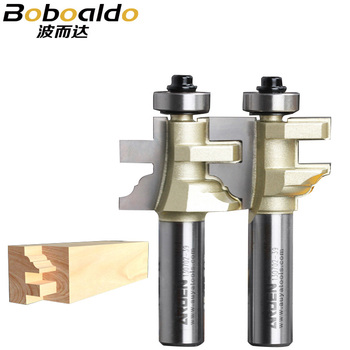 """2pc/set Drawer Pull Bits Woodworking Tool Style & Rail Assembles Arden Router Bit -1/2*1-I,1/2*1-II -1/2""""Shank-Arden A1705018&28"""