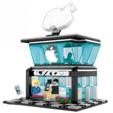 hot city Street view Apple flagship store Mobile phone shop MOC Building Blocks model diy Seller figures bricks toys for gift hot city street view downtown diner building block waiter cook figures cabriolet vintage car bricks 10260 toys for kids gifts