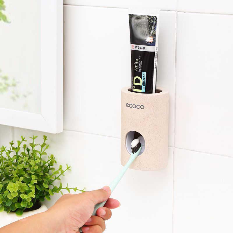 Automatyczny dozownik pasty do zębów pyłoszczelna szczoteczka do zębów uchwyt na stojak z uchwytem na ścianę akcesoria łazienkowe zestaw pasty do zębów wyciskacz do zębów
