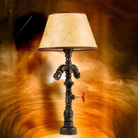 Individual Tasteful Loft Industrial Style Water Pipe Desk Lamps E27 Table Lights Bar Lamps Coffee Light