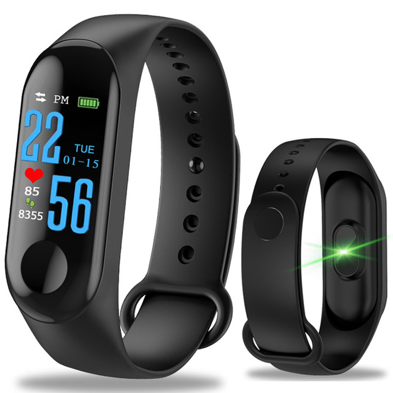 M3 Sport Smart Bracelet Watch Wrist Mi Band 3 Heart Rate Monitor Blood Pressure Fitness Tracker