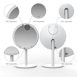 Image 4 - Makyaj makyaj masası aynası 66 LED ışıkları 2000mah şarj edilebilir, 180 derece döndürme, 1x 10x büyüteç standı ve seyahat aynası