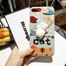 Gorgeous squishy 3D Cat case for iPhone 7 8 6 6S Plus 5 5S SE 6 7 6S