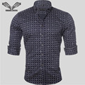 Plaid Men Shirt Cotton Casual Brand Clothing Slim Fit Business Dress Male 2017 New Style Camisa Masculina Plus Size 5XL N507