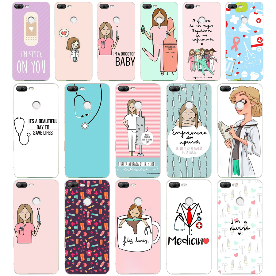 Cellphones & Telecommunications 98we Cute Cartoon Medicine Doctor Soft Silicone Tpu Cover Phone Case For Huawei Honor 8 9 Lite 8x P 8 9 Lite 2017 Curing Cough And Facilitating Expectoration And Relieving Hoarseness Half-wrapped Case
