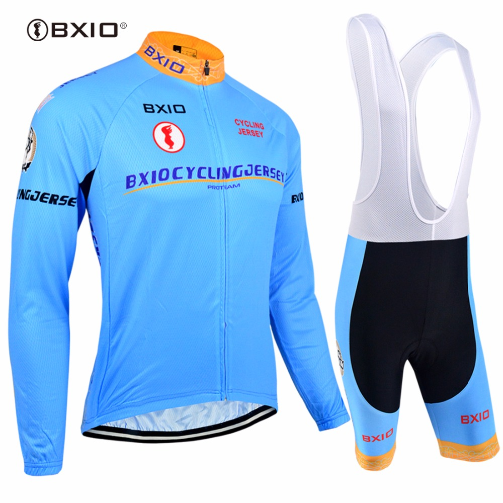 Bxio Long Sleeve Cycling Sets Autumn Pro Team Bicycle Clothing Ridding Clothes Roupa Ciclismo Masculino Road Bike Jerseys 016 live team cycling jerseys suit a001