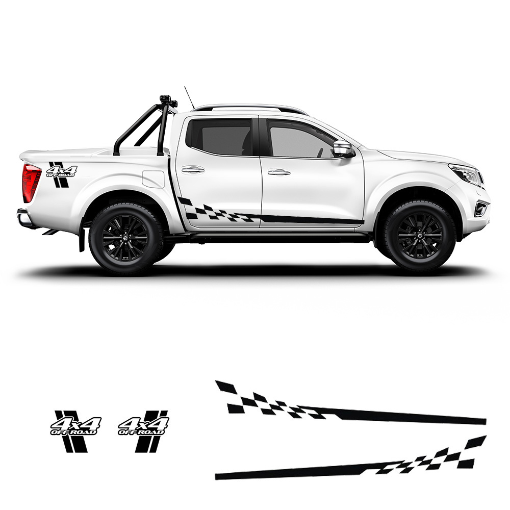 Graphics Racing Stripe Car Sticker 4X4 Hood Decal For NISSAN NAVARA Pickup Truck