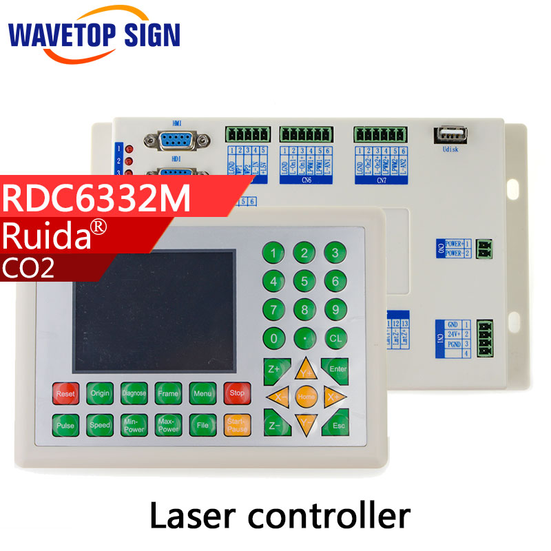 Ruida RD 1set  RDC6332M Co2 Laser DSP Controller for Laser Engraving and Cutting Machine co2 laser metal cutting use 2017 latest co2 laser controller system rdc 6442g rd ruida motion control upgrade rd320