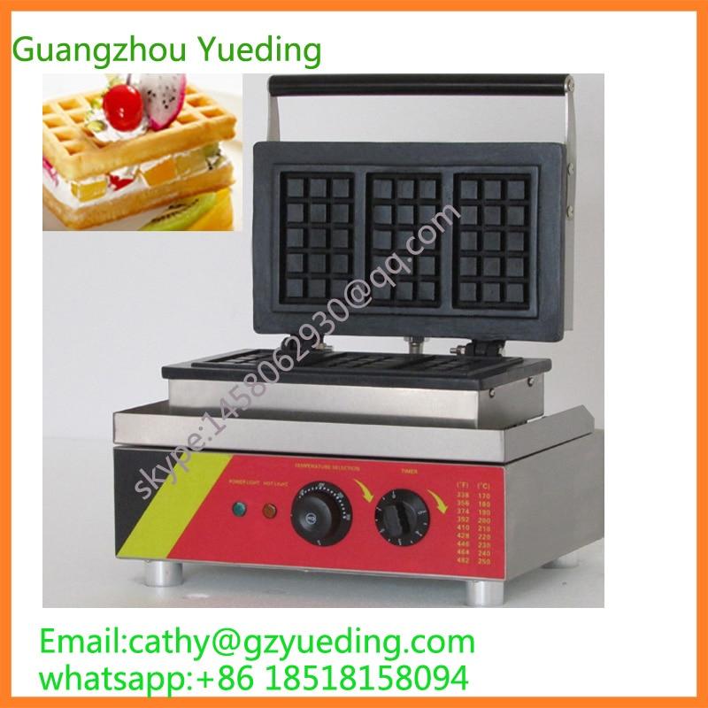 Hot sale adjustable plate waffle maker/waffle cone machie/rectangle waffle making machine hot sale 32pcs gas bean waffle maker