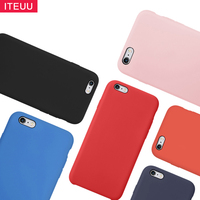 ITEUU Liquid Silicone Candy Matte Case For Apple Iphone 6 6S Plus Cases Soft Back Cover