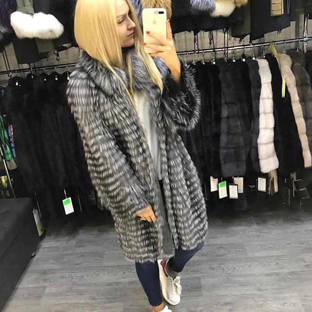 Silver Fox Natural Fur Casual Jackets