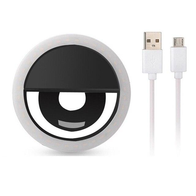 Anneau de selfie LED Rechargeable via USB 1