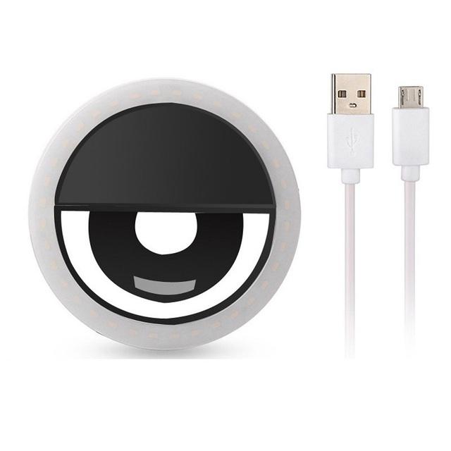 JOYTOP USB charge LED Selfie Ring Light for iPhone Supplementary Lighting Night Darkness Selfie Enhancing for phone Fill Light