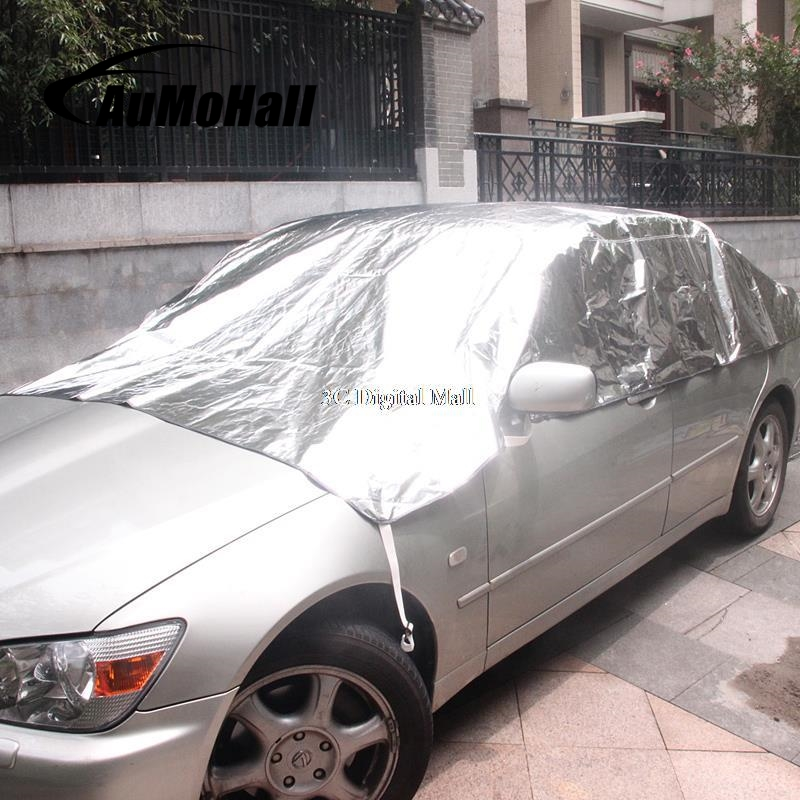 AuMoHall Universal Reflective Half Car Cover Protector