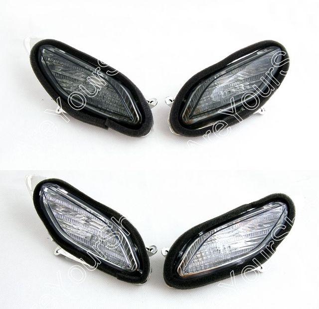 Venta 2 colores para honda st1300 2002-2009 frente señales de vuelta de luz de reemplazo de la motocicleta indicador blinker cubierta de la lente transparente