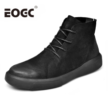 Autumn Winter Men Boots Size 38-47 Comfortable Warm Snow Footwear Fashion Rubber Ankle boots With Fur