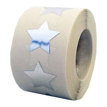 Silver Star Shape Stickers - 3/4