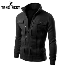 TANGNEST Handsome Top Slim Men Sweatshirt Casual Men Tracksuits Comfortable Popular For Male 5 Colors Asian Size