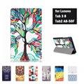 Impresión case tab2 tab3 8 pulgadas tableta a8 a8-50f tb3-850m/f case flip cubierta para lenovo tab 3 8 pulgadas con el cine y stylus y regalo