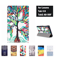 Printing Case Tab3 8 inch Tablet Tab2 A8 A8-50F TB3-850M/F Case Flip Cover For Lenovo Tab 3 8 inch With Film And Stylus And Gift