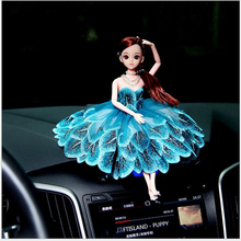 1pcs Creative Handmade Child Beautiful Doll Toy Wedding doll Doll Car Doll High-End Wedding Gifts Peacock lace Girls 30cm