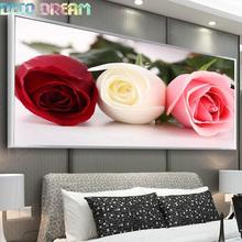 купить Diy Full Round Resin Diamond Painting Embroidery Rhinestones Kit Beautiful Words Of Rose Flower Mosaic Decor As Good Hobby Gift дешево