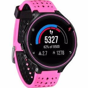 Image 2 - 8 Kleuren Siliconen Vervanging Watch Band Voor Garmin Forerunner 230 / 235 / 220 / 620 / 630 / 735 horloge Outdoor Sport Horlogebandje