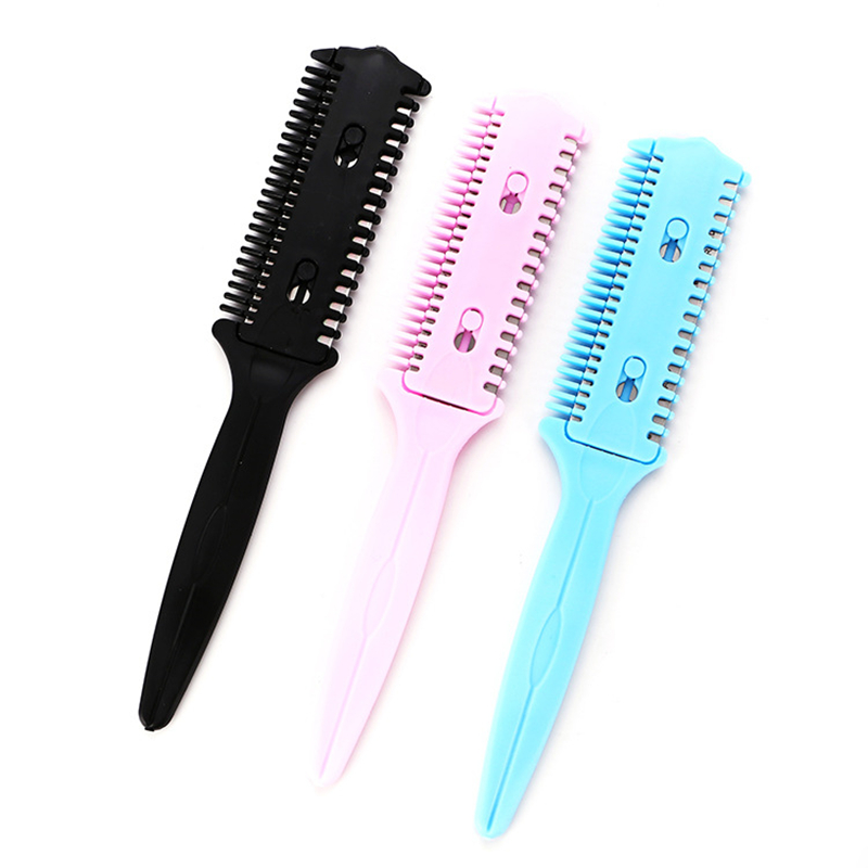 Sunny New-barber Hair Razor Comb Scissor Tools Bangs Brush Hairdressing Trimmers Hair Shaving Blades Cutting Thinning Beauty Styling Home Appliance Parts Home Appliances