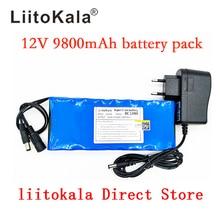 LiitoKala Mới 12V 9800mAh pin lithium ion Camera Pin máy ảnh và 12.6V 1A Sạc Châu Âu/ phích cắm US