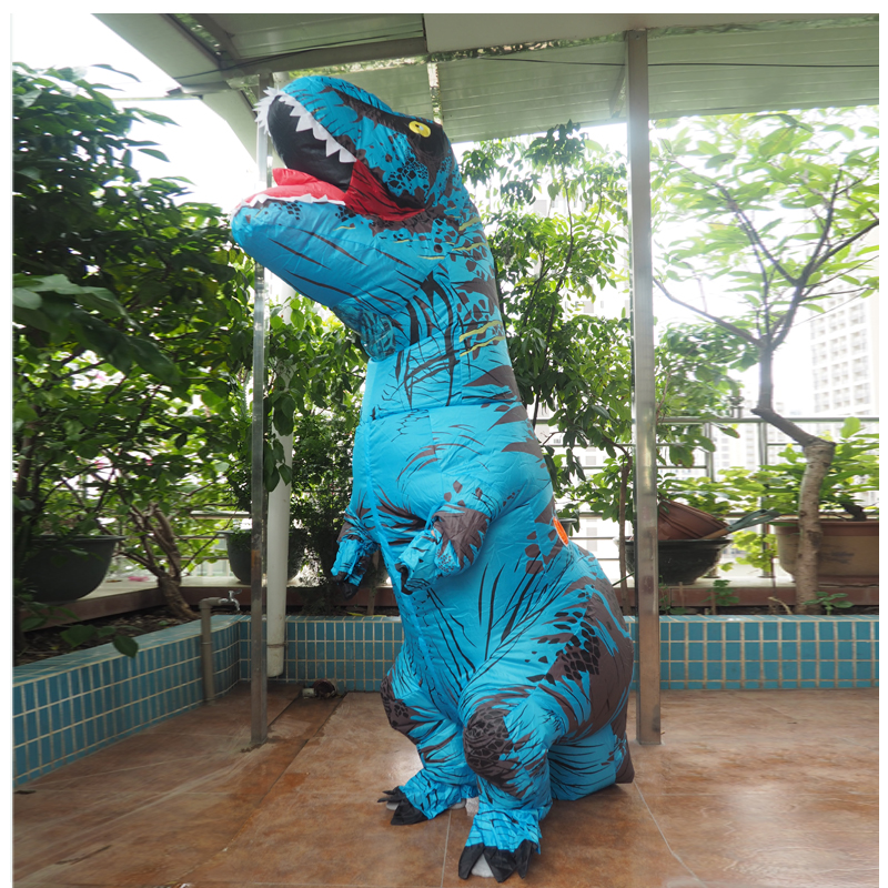 Adult T REX Costume Inflatable Dinosaur Party Costume Suit For Anime disfraces adultos costume Halloween Costumes for Women Men (16)