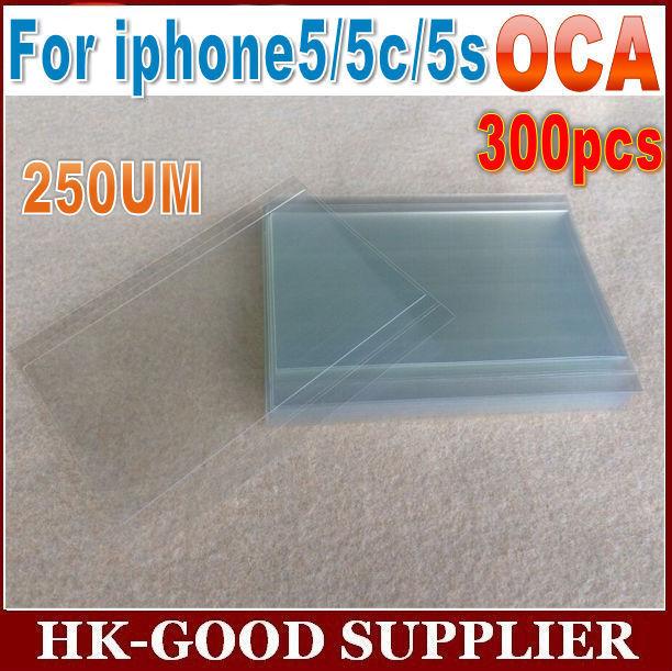 300 unids 250um OCA adhesivo transparente óptico Para iphone5/5S oca freeshipping HongKong Post Correo Aéreo/ePacket